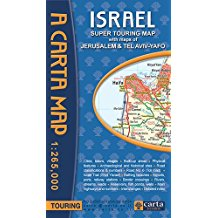 map israel tour